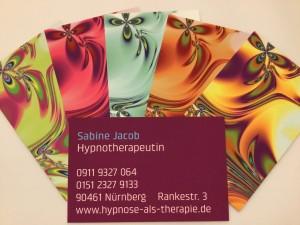Hypnotische Visitenkarten Sabine Jacob